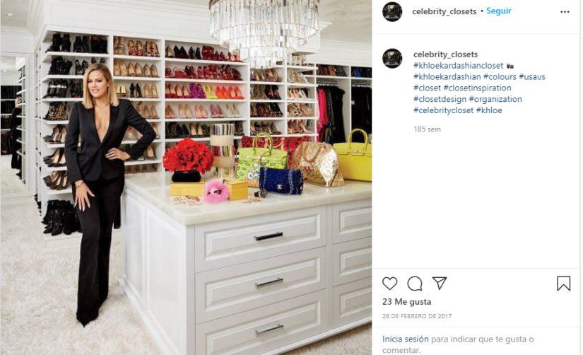 post instagram armario influencers